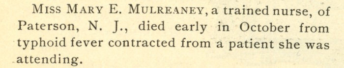 Mulreaney typhoid fever
