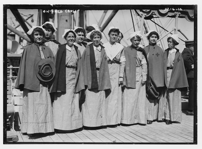 Red Cross Nurses Aboard WWI Mercy Ship